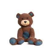 fabdog® Floppy Teddy Bear Plush Squeaker Dog Toy, Small