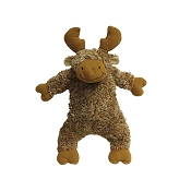 fabdog® Fluffy Moose Plush Squeaker Dog Toy, Small