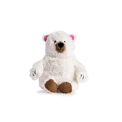 fabdog® Fluffy Polar Bear Plush Squeaker Dog Toy, Small