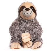 fabdog® Fluffy Sloth Plush Squeaker Dog Toy, Large