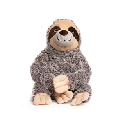 fabdog® Fluffy Sloth Plush Squeaker Dog Toy, Small