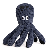 fabdog® Floppy Blue Octopus Plush Squeaker Dog Toy, Large