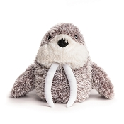 fabdog® Fluffy Walrus Plush Squeaker Dog Toy, Large