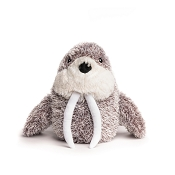 fabdog® Fluffy Walrus Plush Squeaker Dog Toy, Small