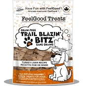 FeelGood Trail Blazin Bitz Turkey Liver Recipe Dog Treats, 8.8-oz Bag