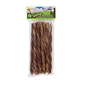 Free Raised Pet Products Moo! Odor-Free Twisted Junior Bullys Dog Treats, 11-12