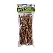 Free Raised Pet Products Moo! Odor-Free Twisted Junior Bullys Dog Treats, 5-6