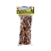 Free Raised Pet Products Moo! Odor-Free Braided Bully Stick for Dogs, 5-6