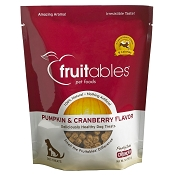 Fruitables Pumpkin & Cranberry Flavor Crunchy Dog Treats