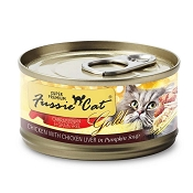 Fussie Cat Super Premium Chicken & Chicken Liver in Pumpkin Soup Formula in Gravy Grain-Free Canned Cat Food, 2.82-oz, case of 24