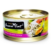 Fussie Cat Premium Tuna with Chicken Formula Grain-Free Canned Cat Food, 2.82-oz, case of 24