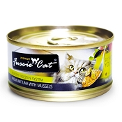Fussie Cat Premium Tuna with Mussels Formula Grain-Free Canned Cat Food, 2.82-oz, case of 24