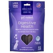 Get Naked Digestive Health Grain-Free Dental Chew Sticks Dog Treats, Large