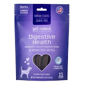 Get Naked Digestive Health Grain-Free Dental Chew Sticks Dog Treats, Small