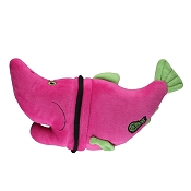 goDog Ripzzz with Chew Guard Salmon Dog Toy, Large