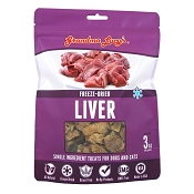 Grandma Lucy's Freeze-Dried Singles Liver Dog & Cat Treats, 3-oz bag