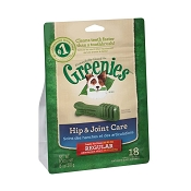 Greenies Hip & Joint Care Regular Dental Dog Treats, 18 Count