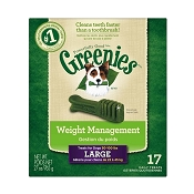 Greenies Large Weight Management Dental Dog Treats, 17 Count