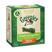 Greenies Petite Weight Management Dental Dog Treats, 45 Count