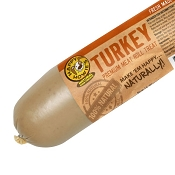 Happy Howie's Premium Turkey Roll Dog Food Topper & Treat, 2-lb