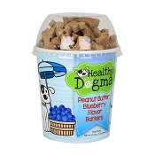 Healthy Dogma Peanut Butter Blueberry Recipe Barkers Dog Treats, 6.2-oz Cup
