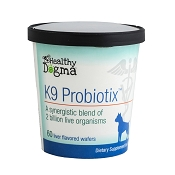 Healthy Dogma K9 Probiotix Supplement for Dogs, 60-Count