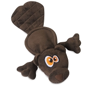 Hear Doggy Silent Squeaker Flattie Beaver Dog Toy