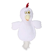 Hear Doggy Silent Squeaker Chew Guard Flattie Chicken Dog Toy