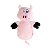 Hear Doggy Silent Squeaker Chew Guard Flattie Pig Dog Toy