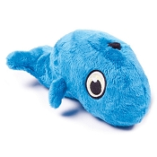 Hear Doggy Silent Squeaker Whale Dog Toy, Large