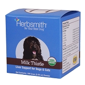 Herbsmith Milk Thistle Powder Herbal Support Supplement for Dogs and Cats, 150 Grams