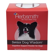 Herbsmith Senior Dog Wisdom Cognitive Support Powdered Dog Supplement, 150 Grams