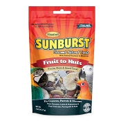 Higgins Sunburst Gourmet Fruits to Nuts Natural Treats for Conures, Parrots and Macaws