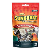 Higgins Sunburst Gourmet Fruits & Veggies Natural Treats for Conures, Parrots and Macaws