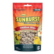 Higgins Sunburst Gourmet Millet Bits Natural Treats for Small Birds