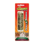 Higgins Sunburst Peas & Beans Gourmet Treat Sticks for Hamsters, Gerbils, Mice & Other Rodents