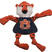 HuggleHounds Auburn University Aubie the Tiger Knottie Dog Toy, Large