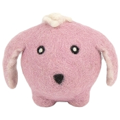 HuggleHounds Bunny Eco-Wooly Ball Dog Toy