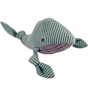 HuggleHounds Knotties Plush Whale Dog Toy, Large