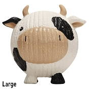 HuggleHounds Ruff-Tex Knotties Cow Dog Toy, Large