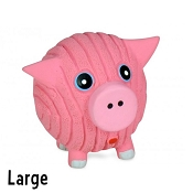 HuggleHounds Ruff-Tex Knotties Hamlet the Pig Dog Toy, Large