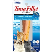 Inaba Ciao Grain-Free Grilled Tuna Fillet in Scallop Flavored Broth Cat Treat