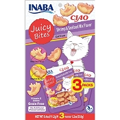 INABA Juicy Bites Shrimp & Seafood Flavor Cat Treats, 3 Pack