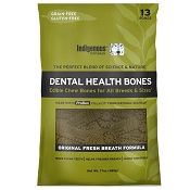 Indigenous Pet Products Grain-Free Dental Health Bones Fresh Breath Formula Dog Chews