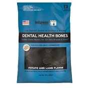 Indigenous Pet Products Grain-Free Dental Health Bones Potato & Lamb Formula Dog Chews