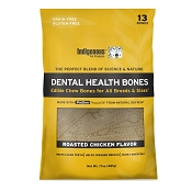 Indigenous Pet Products Grain-Free Dental Health Bones Roasted Chicken Recipe Dog Chews