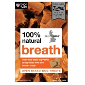 Isle of Dogs 100% Natural Breath Recipe Oven-Baked Dog Treats, 12-oz