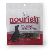Isle of Dogs Nourish Beef Jerky Bites Dog Treats, 3.5-oz Bag