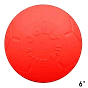 Jolly Pets Jolly Soccer Ball Dog Toy Orange, 6