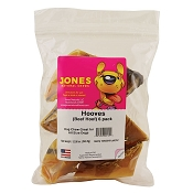 Jones Natural Chews USA Cow Hooves for Dogs, Pack of 6